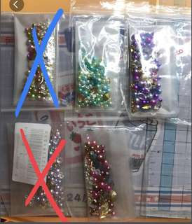 Nail art pearl gems accessories assorted