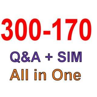 Cisco Best Exam Practice Material For 300-170 Exam Q&A+SIM