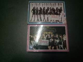 Girls Generations Play card  ( 2 set one peice)