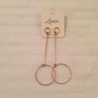 Lovisa gold circle drop earrings