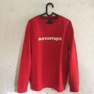 H&m fantastique crewneck red BNWT no hoodie, sweater