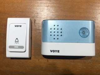 Voye wireless door bell (batteries not included)