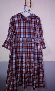 Custom plaid maternity dress