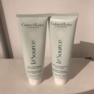🚚 Crabtree & Evelyn's La Source Hand Scrub & moisturising foot and leg therapy