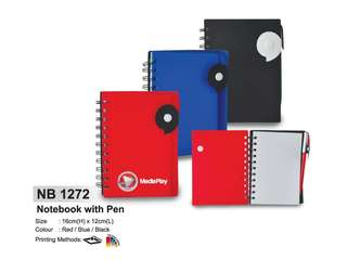 [Wholesale] Notebook with Pen NB1272