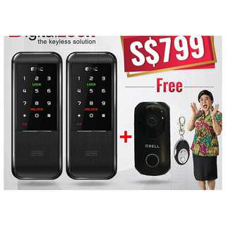 Epic Triplex 2way Card Digital Lock for Main Door and Gate and o-bell at $799  (call 88668884)