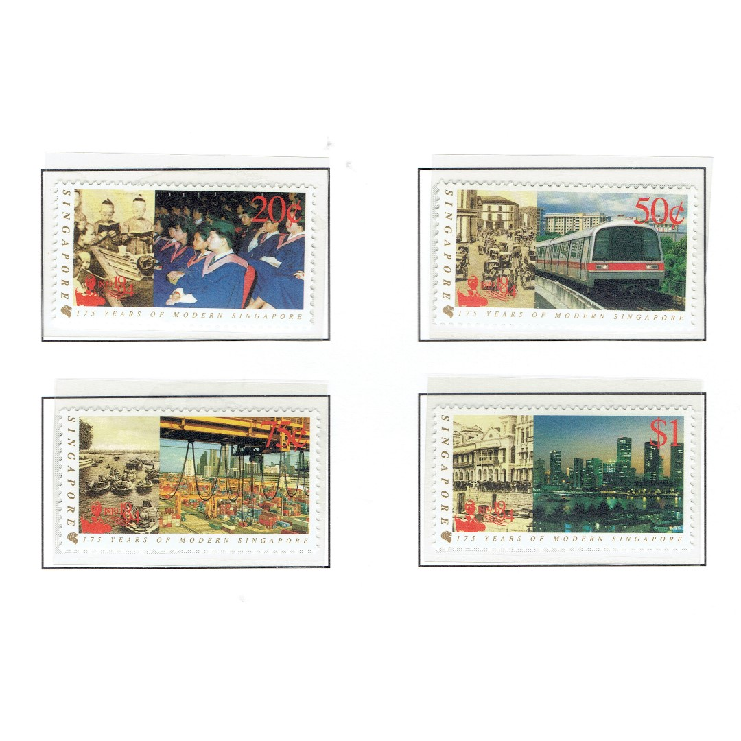1994 07 Mint Stamps 175 Years of Modern Singapore