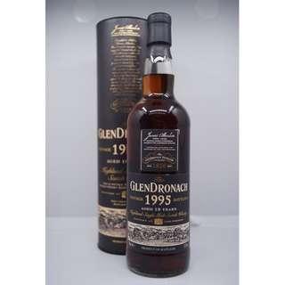 Glendronach 1995 vintage 19 years old sherry cask single malt whisky