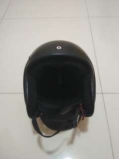 Helm half face damtrax (size L)
