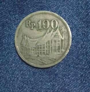 koin 100 Rupiah tahun 1973