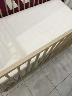 Ikea baby cot include (mattress&skirt cot)