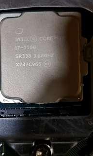 i7 7700 processor with 2pcs 4gb ddr4 memory