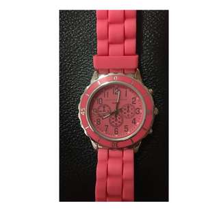 Aeropostale solid rubber watch - pink