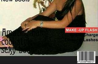Forever long black dress