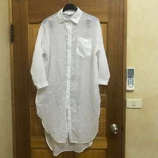 透膚白襯衫