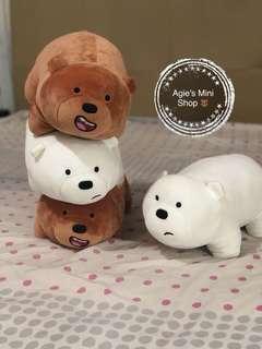 We Bare Bear Plushie 13' Miniso