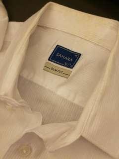 Sahara Formal Casual Long Shirt White Slim Fit #postforsbux