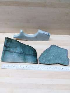 一手3件 緬甸a玉原石 二、重約1.4公斤kg