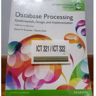 Database Processing Fundamentals, Design, and Implementation
