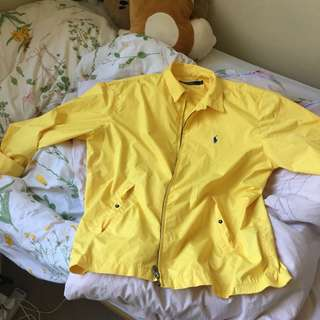 YELLOW N BRIGHT GROOVY RALPH LAUREN POLO JACKET