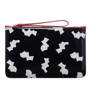Lulu Guinness Kissing Cameo Top Zip Pouch