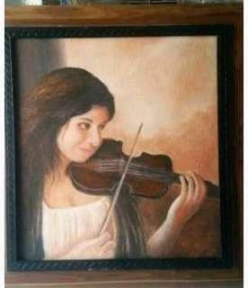 Lukisan gadis pemain biola