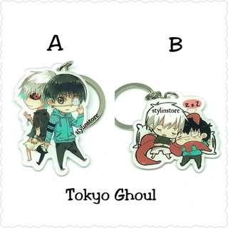Tokyo Ghoul Arcylic Anime Keychain Keyring (cute chibi)