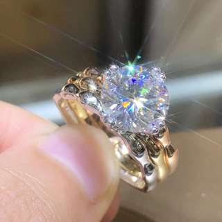 No.2871 18K Moissanite Diamond 💍 美國莫桑鑽石戒指