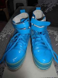 Blue Hi-cut Shoes