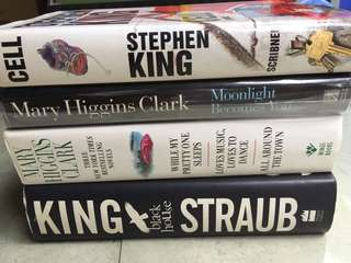 Stephen King and Mary Higgins Clark hardbound