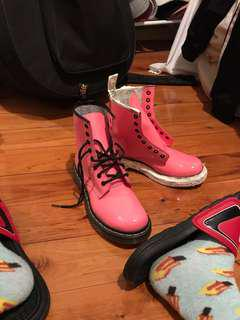 Authentic pink Doc Martens boots