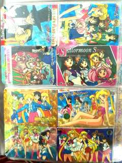 [USED]Sailormoon vintage mini sticker series collection (2 cards of 8 stickers) #postforsbux