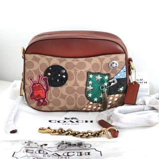 Coach X Keith Haring Camera Bag In Signature Patchwork