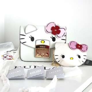 Furla hello Kitty metropolis mini cross body bag toni petalo