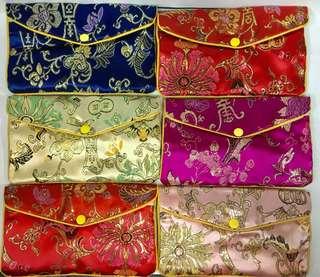全部只售$30 中國古色花紋圖案多用途長型拉鍊包一套6款