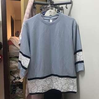 韓國透氣baby blue女裝衫