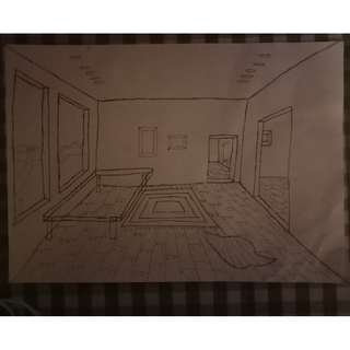 Depth from One-Point Perspective
