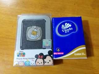 Disney Tsum Tsum Phone Ring Holder 小熊維尼及豬仔 Winnie the Pooh