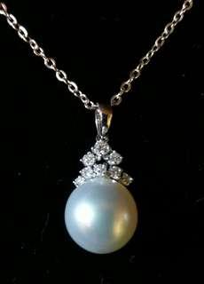 18K鑽石珍珠吊咀 石重27份