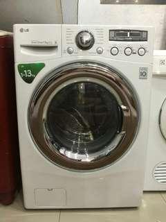 Mesin Cuci Lg WD-N1213D6, Front Loading, 13 Kg, Inverter, Sperti Baru