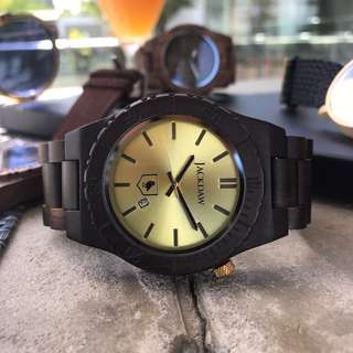 The Black Pearl wooden watch