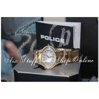 Police Watch Ladies' (Gold Oval)