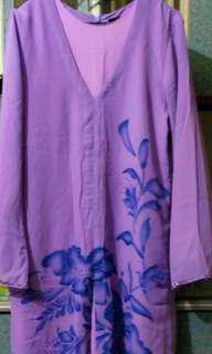 (PRICE REDUCED) Dress with Purple Chiffon Lining
