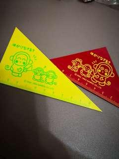 Monkichi 馬騮仔日本絕版1993年3角尺2把