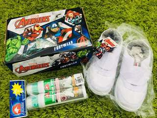 The Avengers White School Shoes (with free shoe's polish)