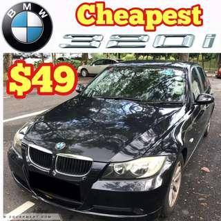 BMW 320i Cheapest Rental / And many other Cars BMW 120i / LEXUS GS300 / Honda Stream MPV / Toyota Estima / Hydunai Avante
