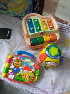 Vtech little tikers 嬰兒音樂發聲玩具三件