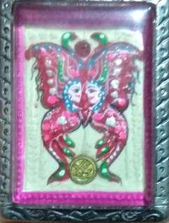 Thai Amulet KK Butterfly behind nak kwak
