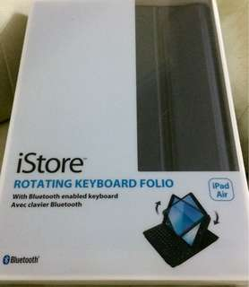 iPad Rotating keyboard folio 全新 齊配件 cable 說明書 (last one)