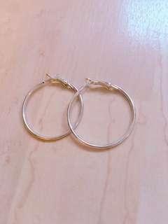 銀色耳環✨💕
